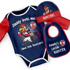 Sydney Roosters Infant 3pc Bodysuit Gift Set