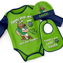 Canberra Raiders Infant 3pc Bodysuit Gift Set