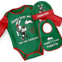 South Sydney Rabbitohs Infant 3pc Bodysuit Gift Set