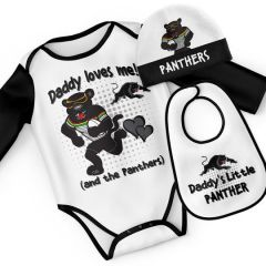 Penrith Panthers Infant 3pc Bodysuit Gift Set