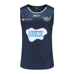 2021 Canberra Raiders ADULTS Navy Training Singlet