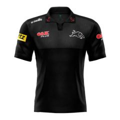2021 Penrith Panthers ADULTS Black Media Polo