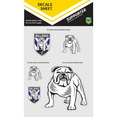 Canterbury Bulldogs Decal Sticker Sheet