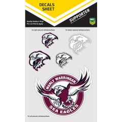 Manly Sea Eagles Decal Sticker Sheet
