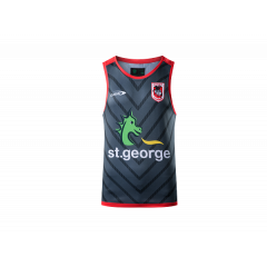 2021 St George Dragons ADULTS Training Singlet Grey