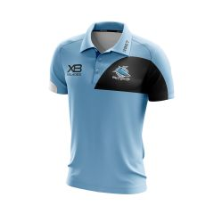 2019 Cronulla Sharks ADULTS Sky Media Polo