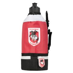 St George dragons NRL team sports drink bottle with insulated cover