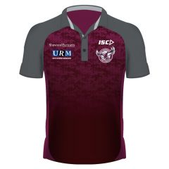 2019 Manly Sea Eagles ADULTS Dark Scarlet Polo