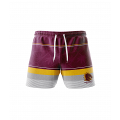 Brisbane Broncos Board Shorts & Hat Pack