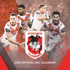 2020 NRL St George Dragons Calendar
