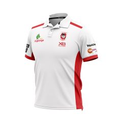 2019 St George Dragons ADULTS White Media Polo