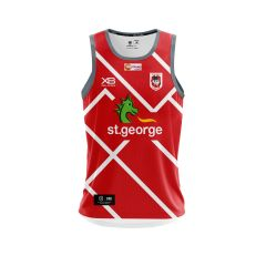 2019 St George Dragons ADULTS Red Training Singlet