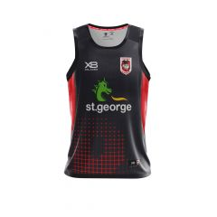 2018 St George Dragons ADULTS Training Singlet Black