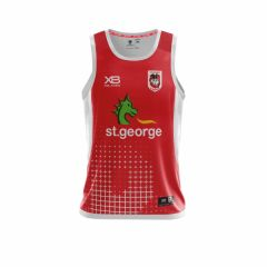 2018 St George Dragons Red Training Singlet