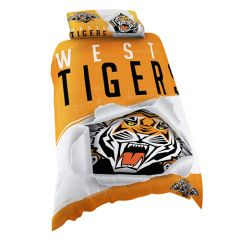 Wests Tigers Single Doona Cover