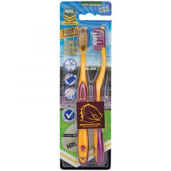 Brisbane Broncos toothbrush (2 Pack)