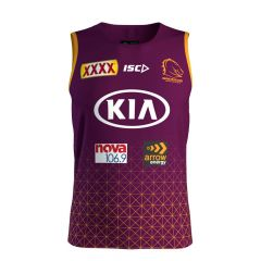 2020 Brisbane Broncos ADULTS Mulberry Training Singlet
