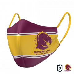 Brisbane Broncos Double Sided Face Mask