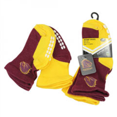 Brisbane Broncos Infant Socks (2 Pack)