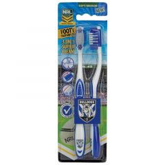 Canterbury Bulldogs Toothbrush (Pack of 2)