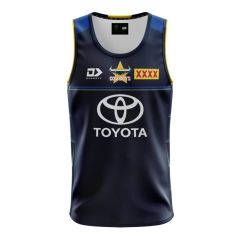 2021 North QLD Cowboys ADULTS Training Singlet Navy