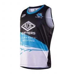 2020 Cronulla Sharks ADULTS Black Training Singlet