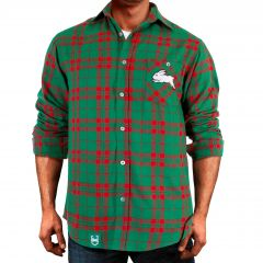 South Sydney Rabbitohs ADULTS Flannel Shirt