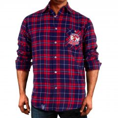 Sydney Roosters ADULTS Flannel Shirt