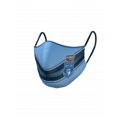NSW Blues State Of Origin Double Sided Face Mask