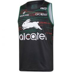 2019 South Sydney Rabbitohs ADULTS Black Training Singlet