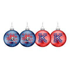 Newcastle Knights Set Of 4 Glitter Baubles