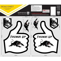 Penrith Panthers Thumbs Up Decal Sticker Sheet
