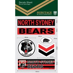North Sydney Bears WM Decal Stickers