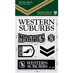 Western Suburbs Magpies WM Decal Stickers