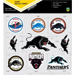 Penrith Panthers Logo History Giant Decal Sheet