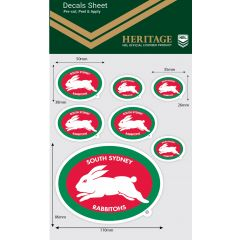 South Sydney Rabbitohs Heritage Decal Sheet