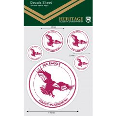 Manly Sea Eagles Heritage Decal Sheet