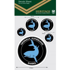 Cronulla Sharks Heritage Decal Sheet