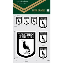 Western Suburbs Heritage Decal Sheet