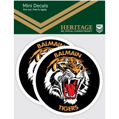 Balmain Tigers 2 Pack Mini Heritage Decal Stickers