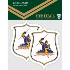 Melbourne Storm 2 Pack Mini Heritage Decal Stickers