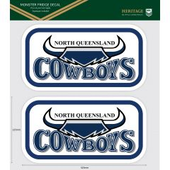 North QLD Cowboys Heritage Monster Sticker
