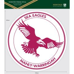 Manly Sea Eagles Heritage Monster Sticker