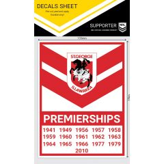 St George Dragons Premiership Years Decal