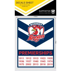 Sydney Roosters Premiership Years Decal