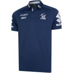 2019 Melbourne Storm ADULTS Navy Media Polo
