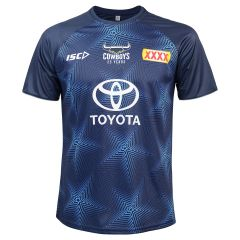 2020 North QLD Cowboys ADULTS Navy Training Tee