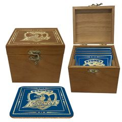 Sydney Roosters S/4 Cork Coasters In Box