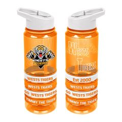 Wests Tigers Tritan Bottle w Bands