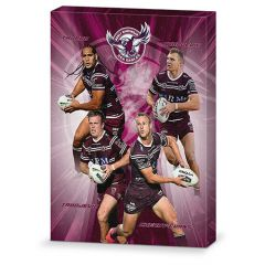 Manly Sea Eagles 4-Player Canvas